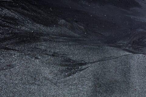 Mønster i sandet på Færøerne.