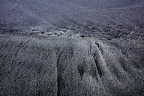 Mønster i sand på Færøerne.
