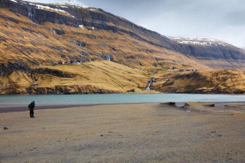 Bjerglandskab på Færøerne.